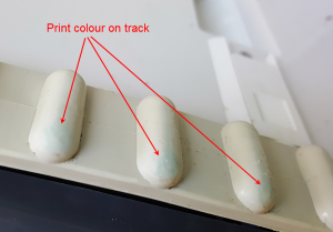 robotic cleaner print rub off on tracks