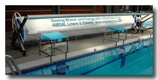 Reel for commercial pool with printed overcover