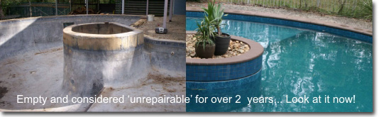 Inground swimming pool renovation options for concrete tile ...
