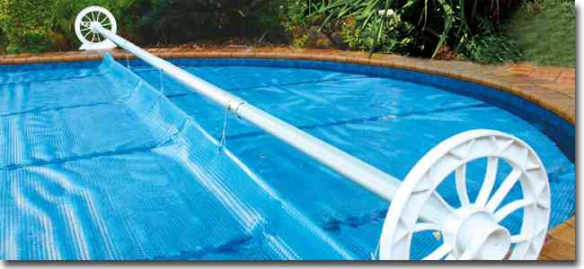 A Solar Pool Cover And Reel